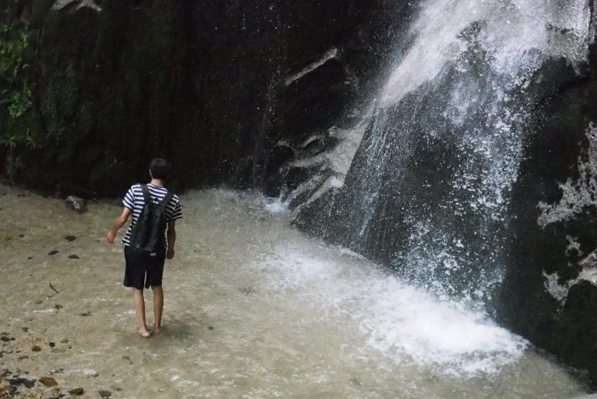 滝あそび。